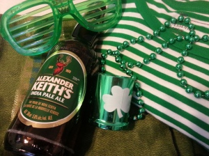 some st. patrick's day necessities.