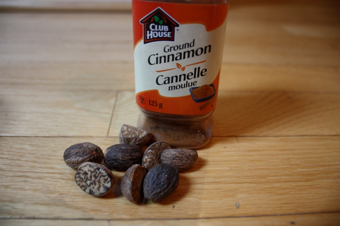 add nutmeg and cinnamon for flavour.